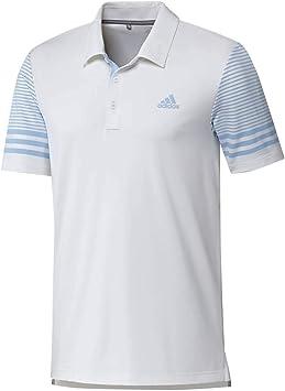 adidas Ultimate Gradient Sleeve Polo, Hombre, Blanco, L: Amazon ...