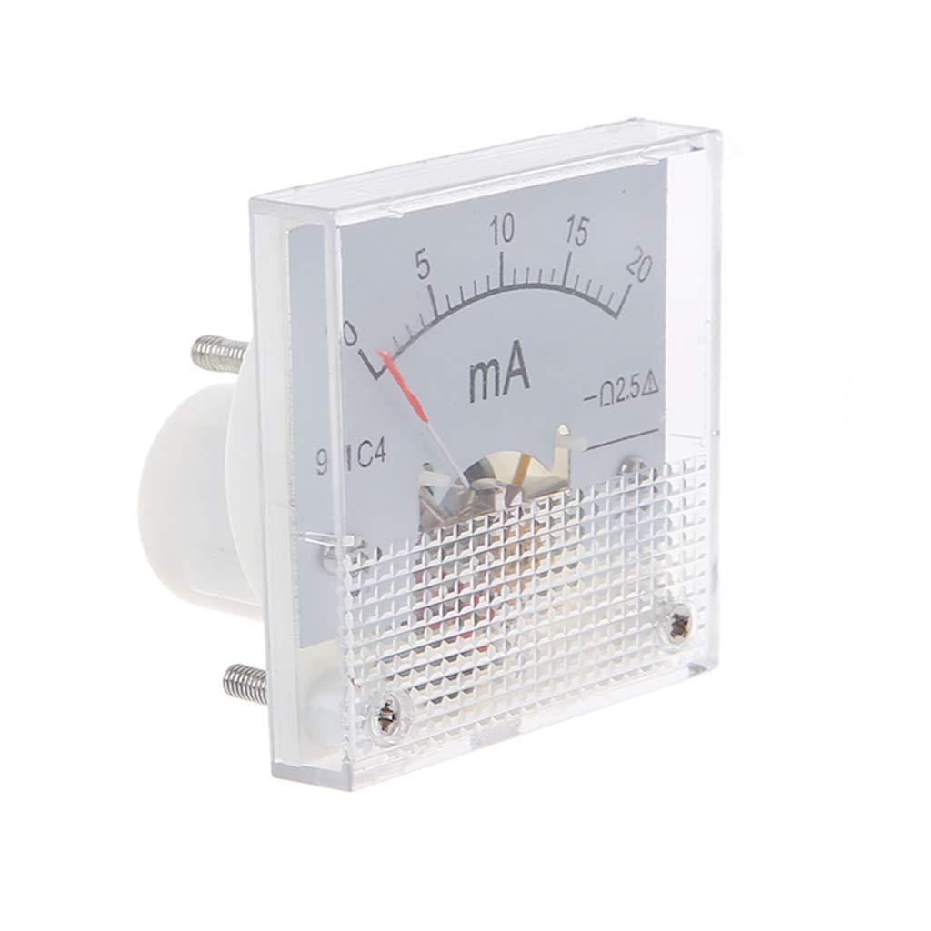 Kafen Amper/ímetro CC 91C4 Ammeter DC Analog Current Meter Panel Mechanical Pointer Tipo 1//2//3//5//10//20//30//50//100//200//300//500 mA A
