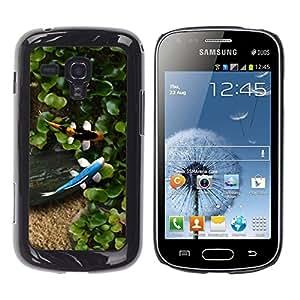 TECHCASE**Cubierta de la caja de protección la piel dura para el ** Samsung Galaxy S Duos S7562 ** Koi Fish Pond Summer Japanese Garden