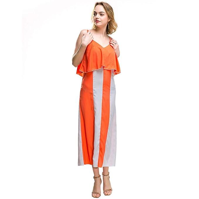 Vestito donna luisa spagnoli arancione lino lungo