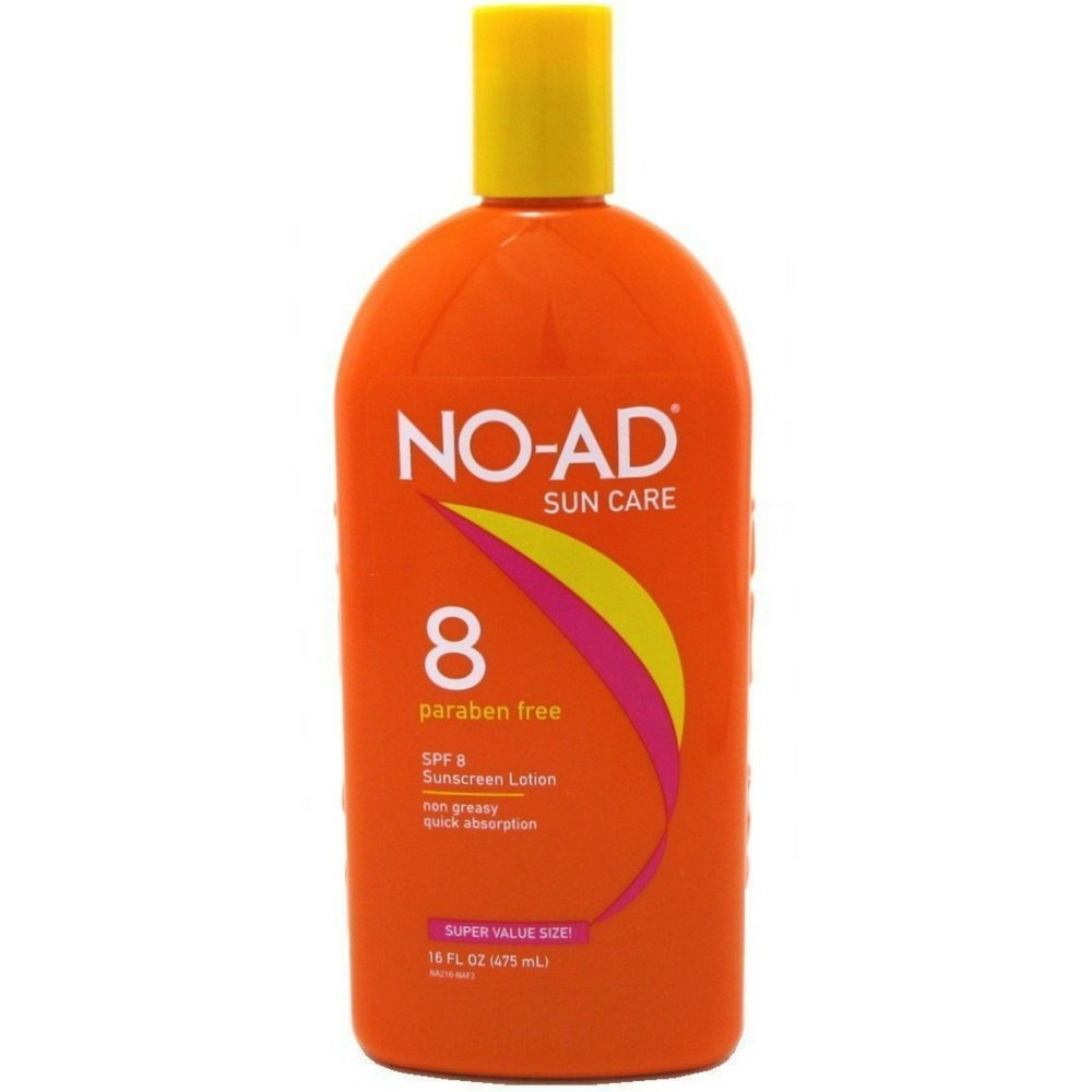NO-AD Protective Tanning Lotion, SPF 8 16 oz (Pack of 6)