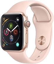 Apple Watch Series 4, 40mm de Alumínio Dourado e Pulseira Esportiva Areia Rosa MU682BZ/A