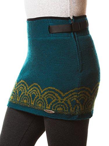 (Everest Designs Women's Emily Mini Skirt, Teal, Large)