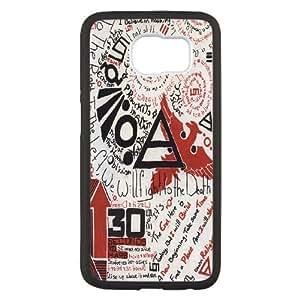 30 Seconds To Mars Caja del teléfono celular funda Samsung Galaxy S6 funda T5R9HQGBMG negro