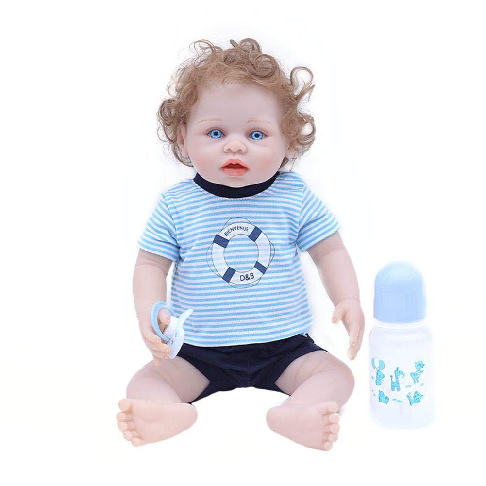 zezego Bulary Reborn Baby Doll Realista Reborn Baby Dolls Silicona Suave Boy Toddler Body Completo Cute Dolls Toy Mejor Regalo para Navidad