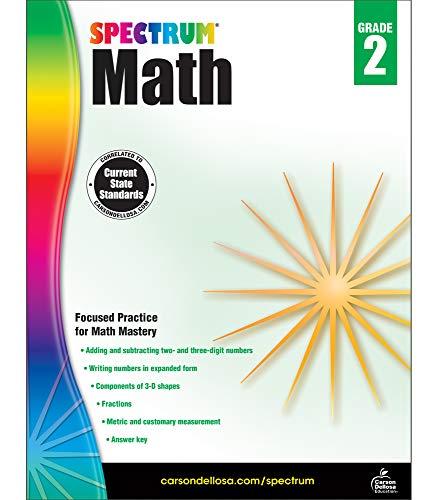 - Spectrum Math Workbook, Grade 2