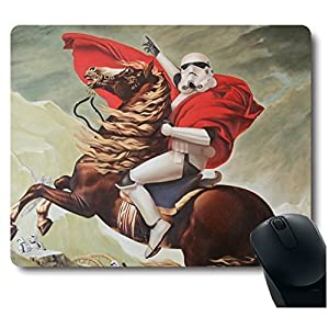 Manslator Cool Soldier Riding A Horse Mouse Pad Funny Awesome Customized, Rectangle