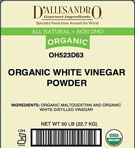 Organic White Vinegar Powder, 50 Pound Box