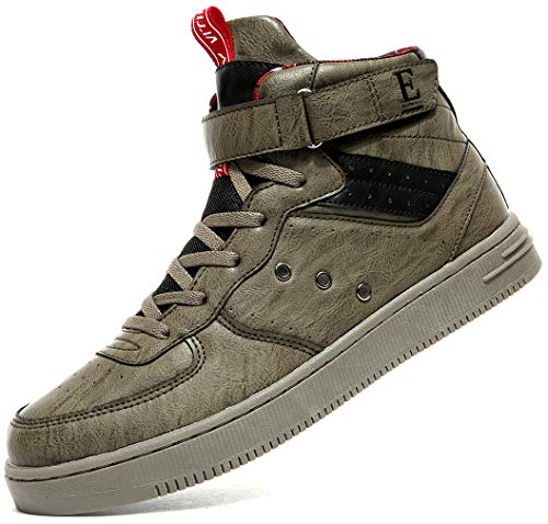 Littleplum Unisex Fashion High Top Leather Street Sneakers Sports Casual Shoes