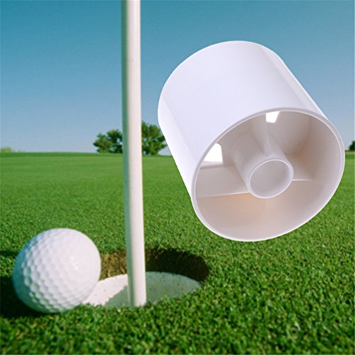 2pcs Golf Training Aids White Plastic Golf Hole Cup Putting Putter Yard Garden Training Backyard Practice Cup
