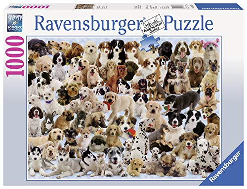 (Ravensburger Dogs Galore - 1000 Piece Jigsaw Puzzle for Adults - Every Piece is Unique, Softclick Technology Means Pieces Fit Together Perfectly)