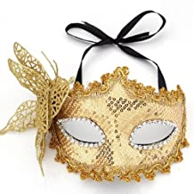 Mask Masquerade Costume Prop Yellow Halloween Fancy Dress Ball Party Xmas
