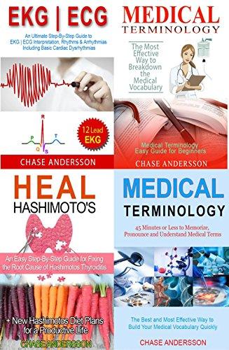 Download PDF Medical Books Box Set - 4 in 1 - ECG | EKG, Medical Terminology, Hashimotos