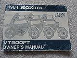 1984 Honda VT500FT Ascot Owners Manual VT 500 FT VT500