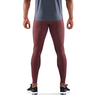 23ccbdc66d Skins DNAmic Core Long Compression Tights - AW18 Red: Amazon.co.uk: Clothing