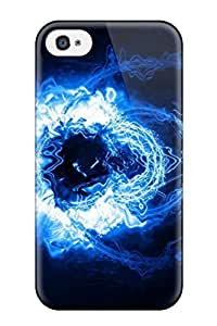 For Iphone Case, High Quality Abstract Blue For Iphone 4/4s Cover Cases