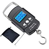#4: Kinstech Fishing Scale 110lb/50kg Backlit LCD Screen Portable Electronic Balance Digital Fish Hook Hanging Scale with Measuring Tape Ruler and Carry Bag for Hunting Fishing Postal Kitchen