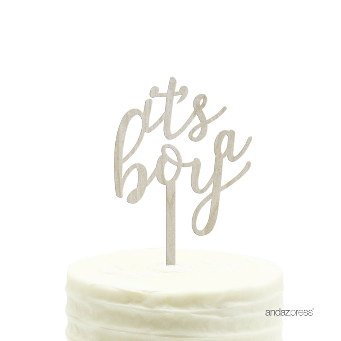 Andaz Press Baby Shower Wood Cake Toppers, It's A Boy, 1-Pack, Decor Decorations