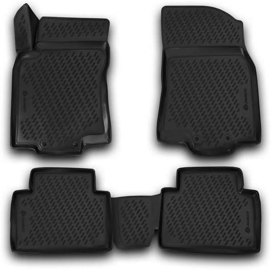 Jahr: 13-20 schwarz Nissan X-Trail Element EXP.CARNIS00059 Passgenaue Premium Antirutsch Gummi Fu/ßmatten