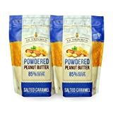 PB Trimmed Powder Peanut Butter 1 LB (2-Pack) Salted Caramel For Sale
