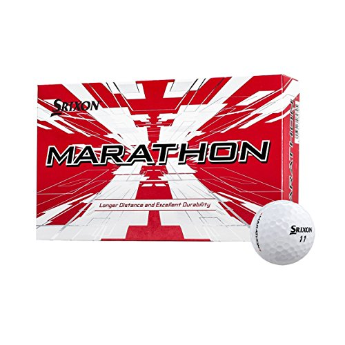 Srixon Marathon Longer Distance & Durability Tough Cover Golf Balls, 6 ()