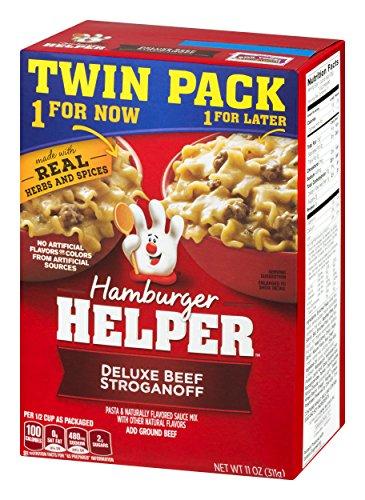 Betty Crocker Dry Meals Hamburger Helper Deluxe Beef Stroganoff Twin Pack, 11 ()