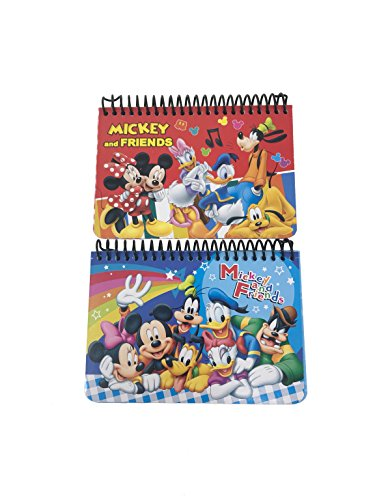 Mickey Autograph Book - Disney Mickey & Friends Autograph Book, 2 pc (Red, Blue)