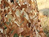 Hulorry Camo Net Themed Restaurant Decor, Lightweight Camouflage Net Woodland Desert Camping Military Hunting Shooting Sunscreen Nets Desert Camo Net Sunscreen Netting 9.8ft x13.1ft