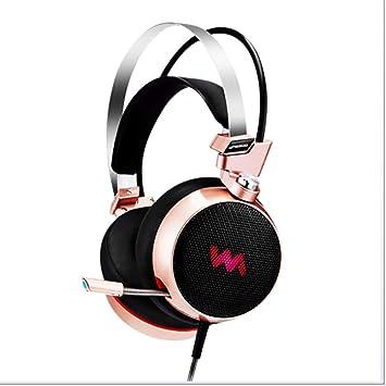 LYX Auriculares de Juego de micrófono, USB Solo Enchufe 7,1 Canal ...