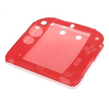 Funda Carcasa Silicona Rojo para Nintendo 2DS Consola de ...