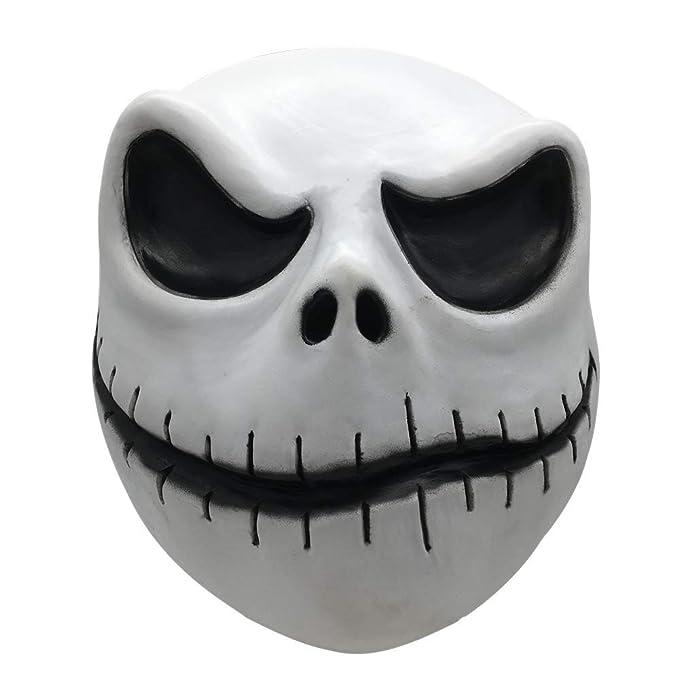 Halloween Jack Skellington Scary.Amazon Com Jack Skellington Mask Nightmare Before Christmas X 1
