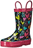 Western Chief Heart Splatter Rain Boot (Toddler/Little Kid/Big Kid), Black, 10 M US Little Kid