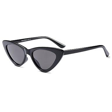 Deylaying Rétro Vintage Des lunettes de soleil 80s Femme Oeil de chat  Charnière à ressort 2c45a904e091