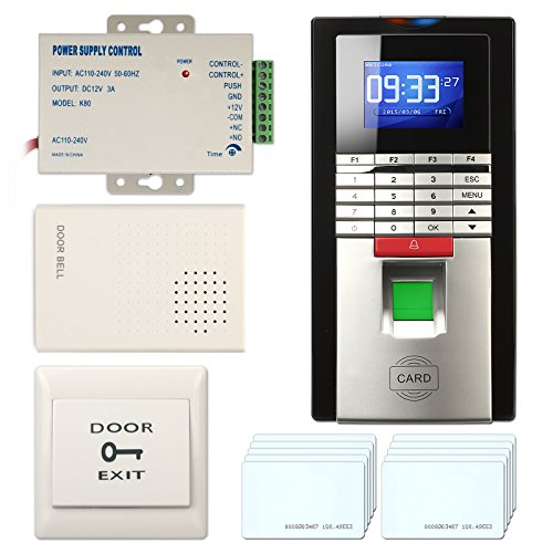 Access Control System, ZOTER Fingerprint Entry RFID ID Card Password Reader Smart Time Attendance Recorder Security Kit