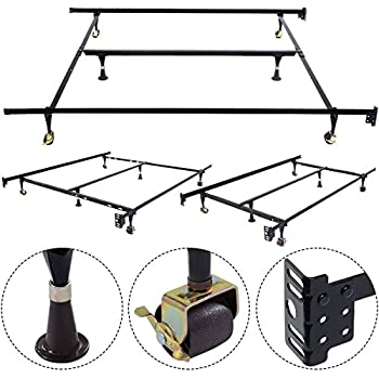 Amazon Com Giantex Adjustable Metal Bed Frame With Center