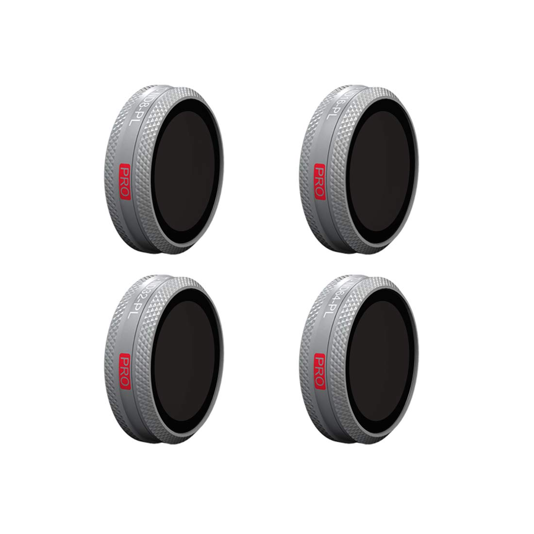 MRKE Filtros, PGYTECH Combo 4Pcs ND/PL Filters Set para dji Mavic 2 Zoom Fly More Kit - ND8/PL + ND16/PL + ND32/PL + ND64/PL