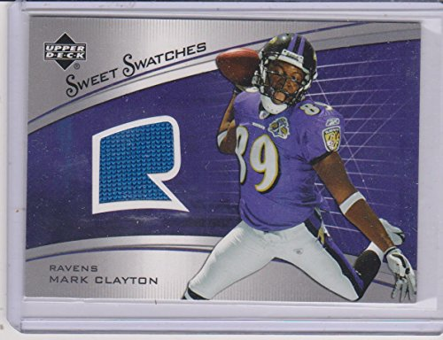 online store c36a0 41547 Amazon.com: 2005 UD Sweet Swatches Mark Clayton Ravens ...