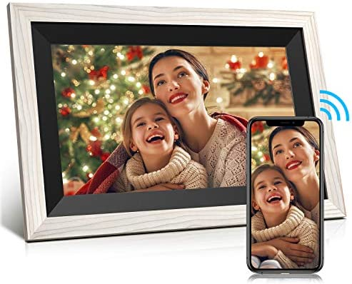 Digital Picture Frame Jeemak 10.1 Inch WiFi Photo Frame with HD IPS Touch Screen Auto-Rotate Adjustable Brightness Share Photos and Videos by means of App at any time and Anywhere