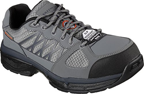Sneachers Work Men Relaxed Fit Conroe Searcy ESD Work Sneaker, grigio / nero