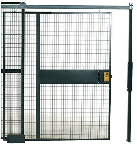 WireCrafters SD388RW RapidWire Welded Steel Wire Mesh Sliding Door, 3' Width x 8'1/4