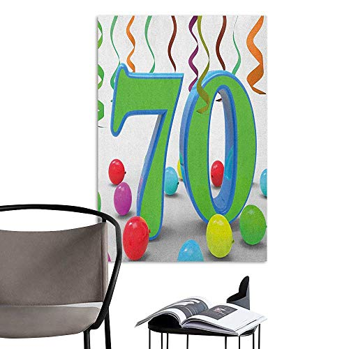 Waterproof Art Wall Paper Poster 70th Birthday House
