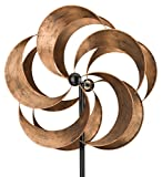 Regal Art & Gift Kinetic Stake 23.5 Inches x 9.25 Inches x 75 Inches Metal - Bronze Flower