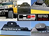hummer chrome roof accessories - Hummer H2 Roof Rack Letter Insert Not Decals - Chrome (SET OF 4)