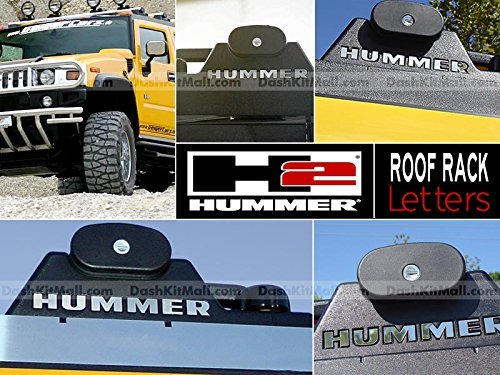 Hummer H2 Roof Rack Letter Insert Not Decals - Chrome (SET OF 4)