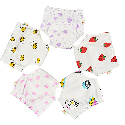 Babyfriend 5PCS Waterproof Potty Training Pants for Toddler Girl