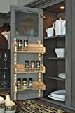 "Rev-A-Shelf 4ASR Adjustable Door Mount Spice Rack With Standard - 13.12"" Width - Wood"