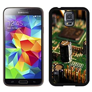 Fashionable Custom Designed Samsung Galaxy S5 I9600 G900a G900v G900p G900t G900w Phone Case With Miscellaneous Electronic Circuit Lockscreen_Black Phone Case