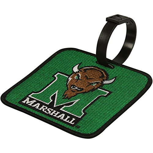 (NEW! Marshall Thundering Herd Golf Bag Tag Embroidered Luggage)