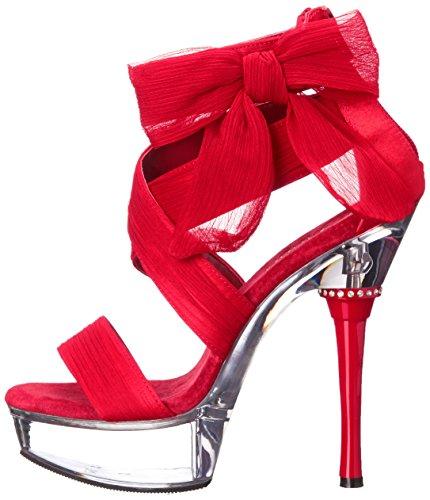 Sandalias Red Mujer Pleaser clr Chiffon cg6HYwq4
