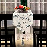 Table Runners modern chinese simple embroidery table runner hotel fabric decoration table flag-A 33x240cm(13x94inch)